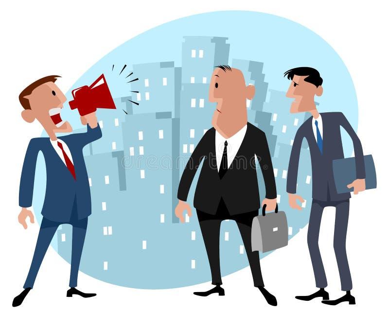 Homens de negócios na cidade ilustração do vetor