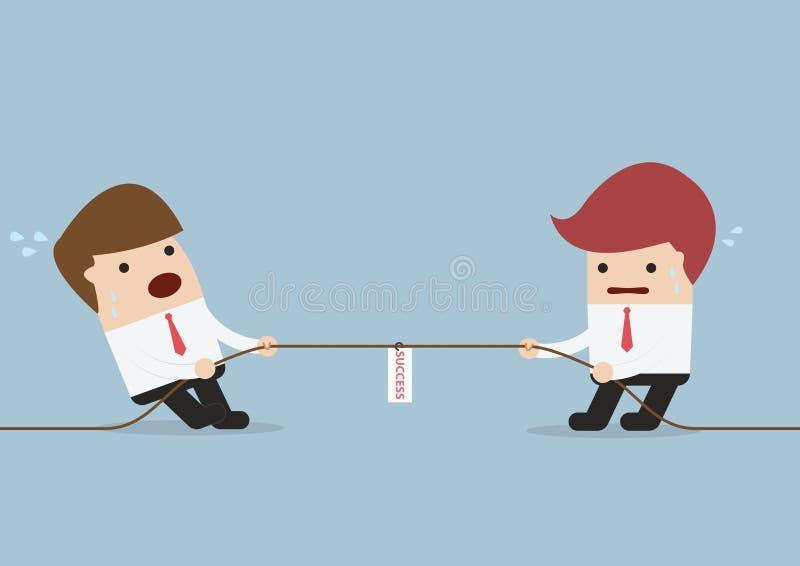 Homens de negócios na competição do conflito ilustração royalty free