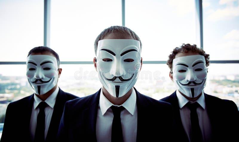 Homens de negócios anônimos fotografia de stock