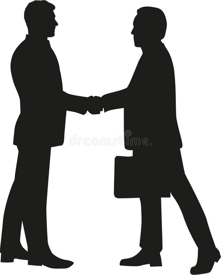 Homens de negócios que agitam as mãos ilustração royalty free