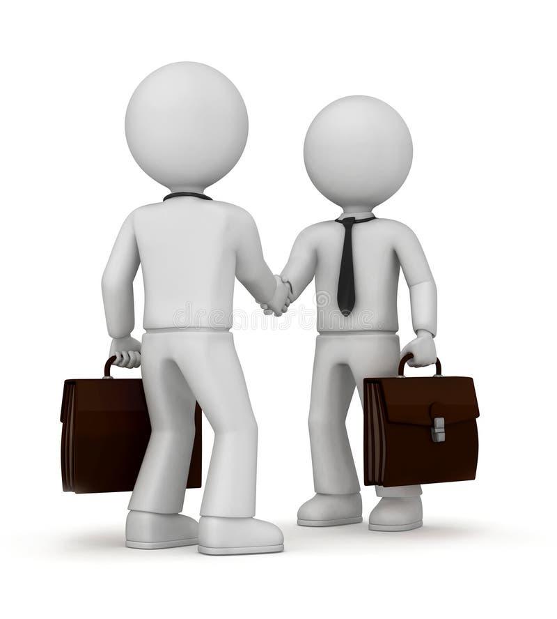 Homens de negócios que agitam as mãos ilustração do vetor