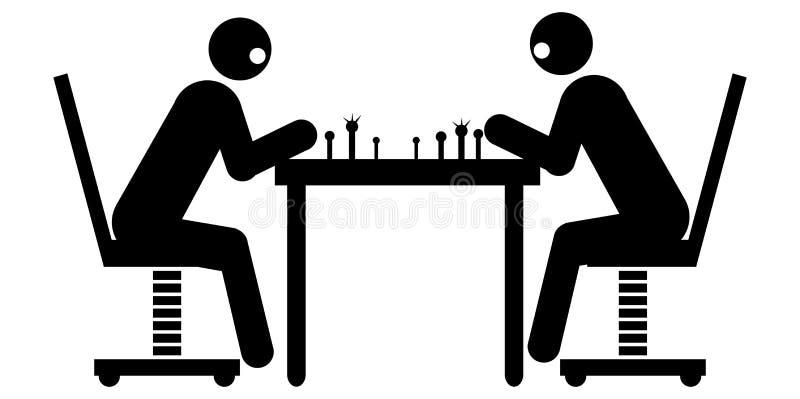 Homens de negócios que jogam a xadrez ilustração do vetor