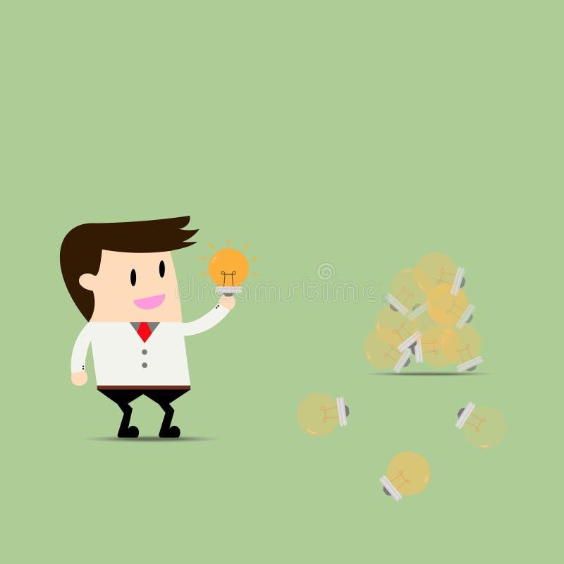 Homens de negócios que procuram ideias ilustração stock