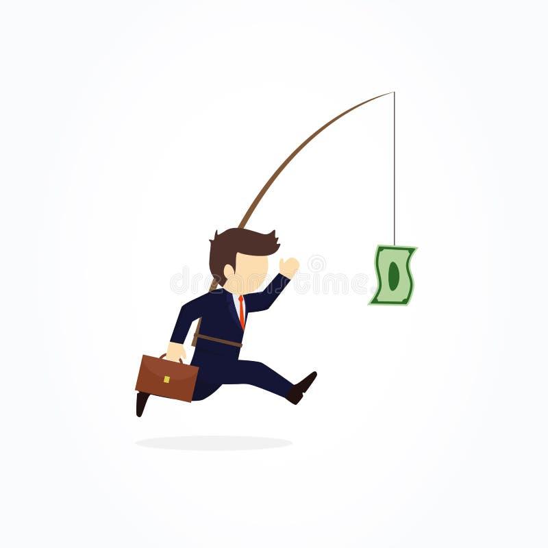 Homens de negócios que tentam descontar o dinheiro ilustração stock