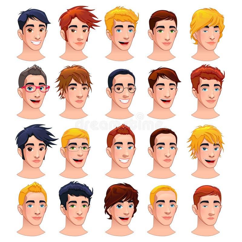 Homens do Avatar. ilustração stock