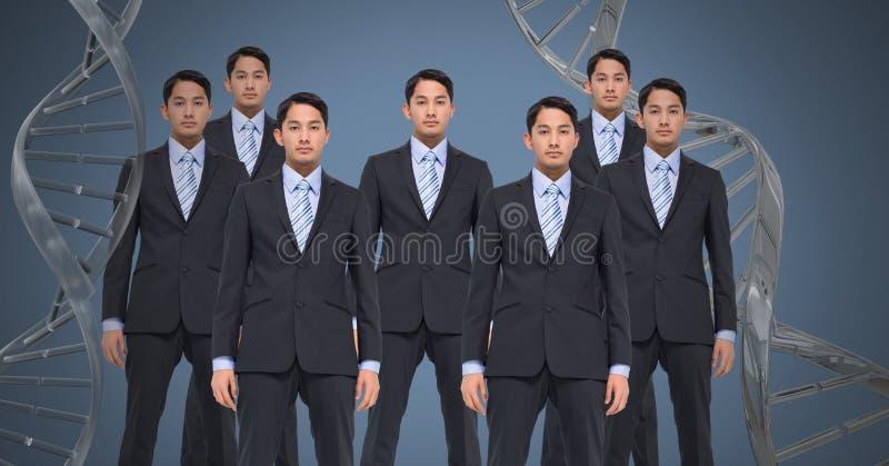 Homens do clone com ADN genético fotografia de stock royalty free