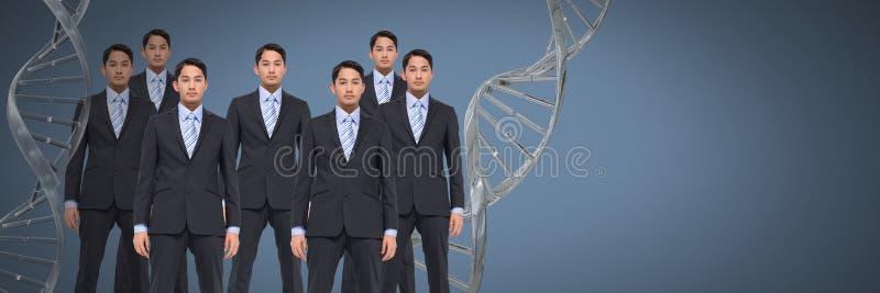 Homens do clone com ADN genético imagem de stock