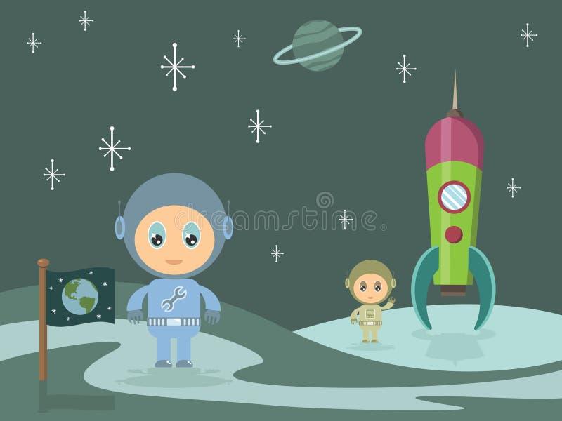 Homens do espaço ilustração stock
