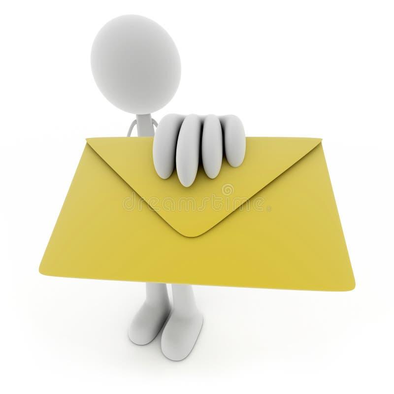 Download Homens e correio ilustração stock. Ilustração de humanoid - 16850160
