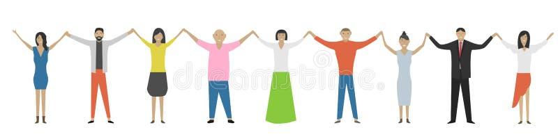 Homens e mulheres ilustração royalty free