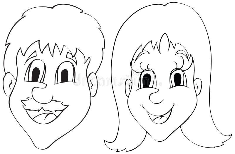 Download Homens e mulheres ilustração do vetor. Ilustração de emoção - 16865320