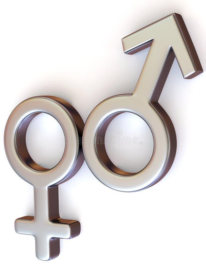 Homens e mulheres do símbolo. Amor ilustração stock
