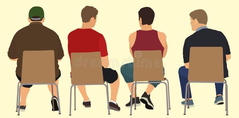 Homens em uma reunião ilustração do vetor
