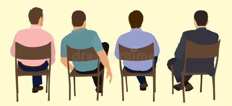 Homens em uma reunião ilustração royalty free