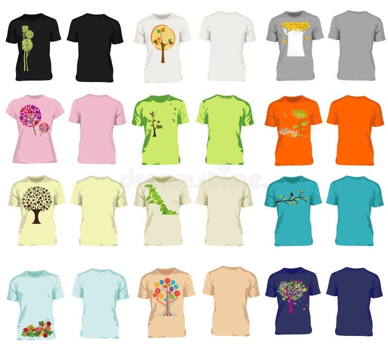 Homens modernos e camisas das mulheres t ilustração do vetor