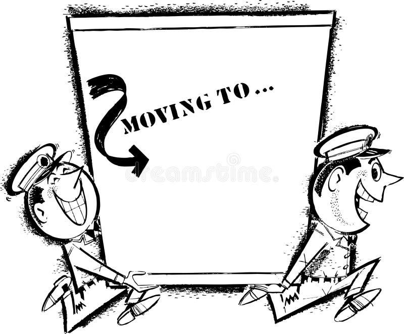 Homens moventes ilustração do vetor
