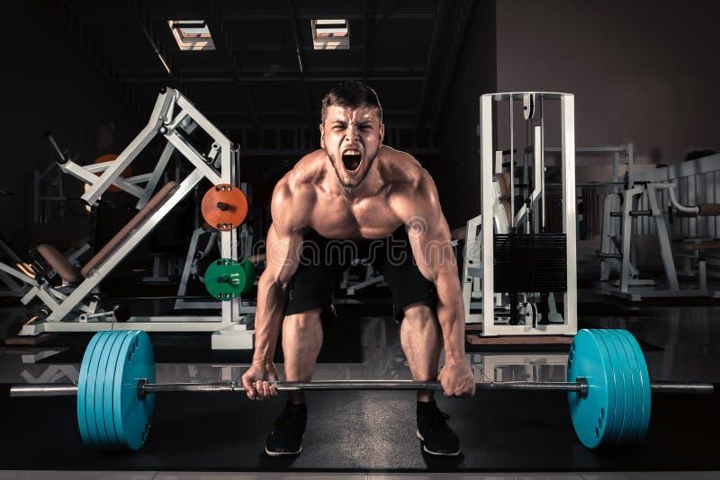 Homens musculares foto de stock