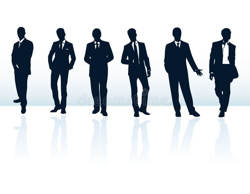 Homens na coleção dos ternos