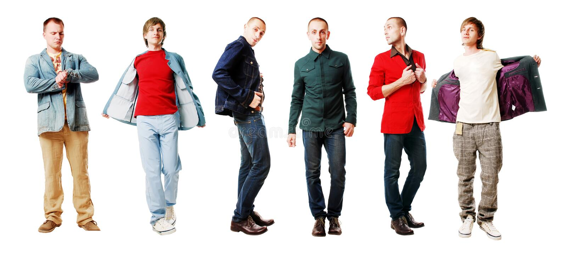 Homens no revestimentos fotos de stock