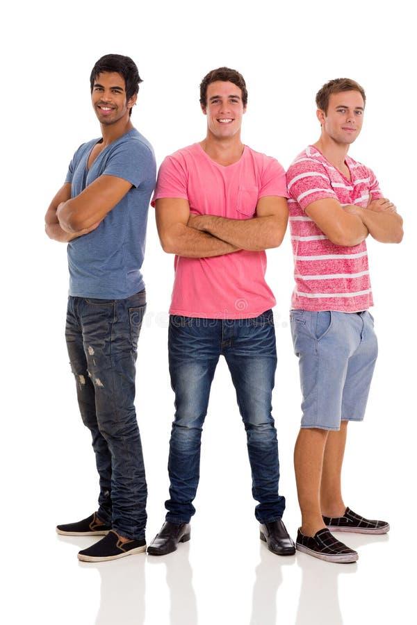 Homens novos do grupo fotografia de stock