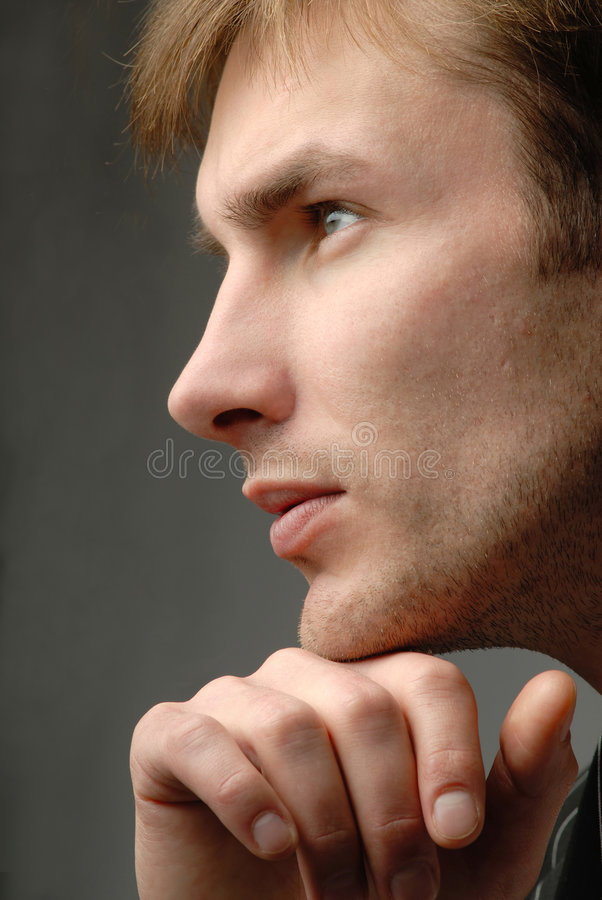 Homens novos do retrato, estrutura imagem de stock