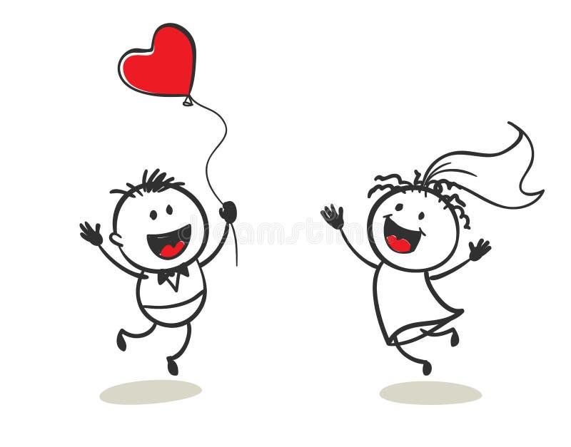 Homens pequenos felizes ilustração stock