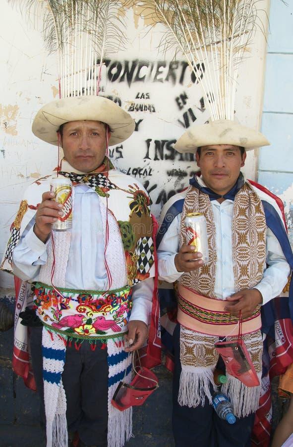 Homens peruanos imagens de stock royalty free