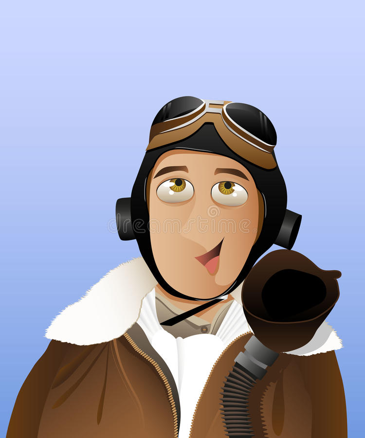 Homens - piloto ilustração royalty free