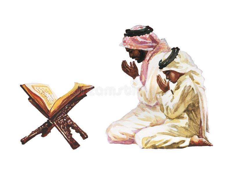 Homens rezando namaz fotografia de stock