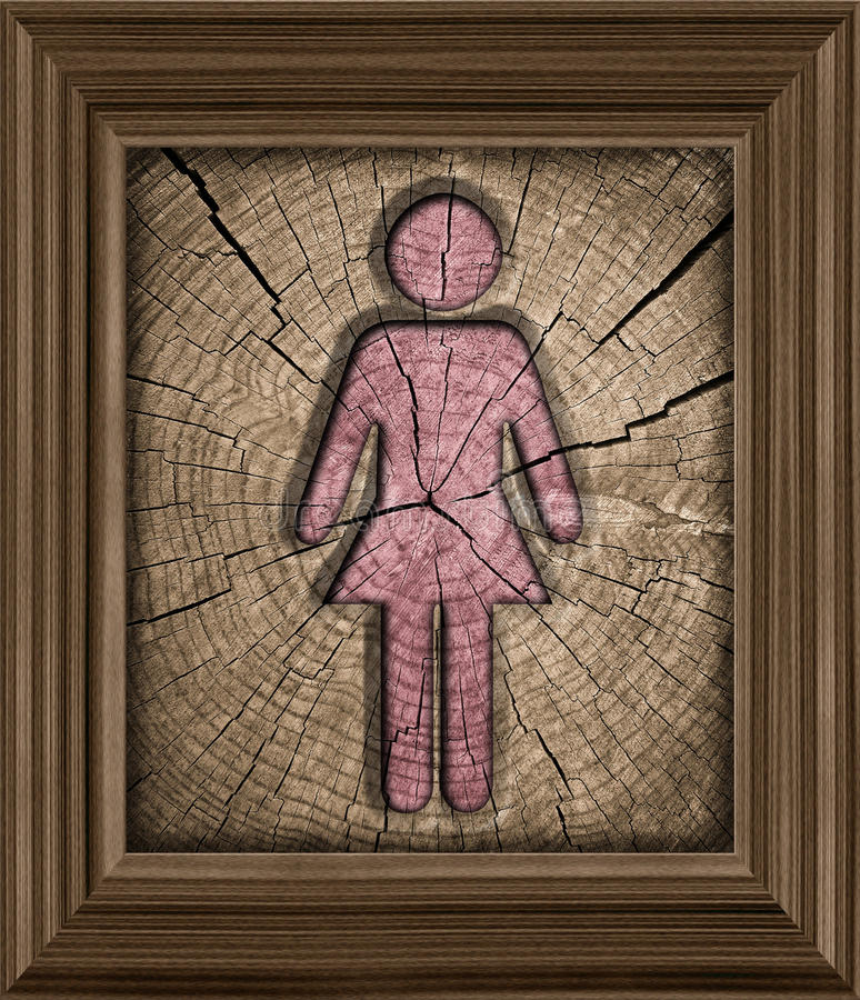 Homens, símbolo das mulheres ilustração do vetor