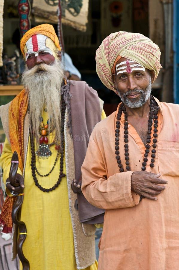 Homens santamente de Sadhu fotografia de stock