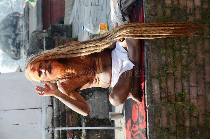 Homens santamente do Nepali fotografia de stock