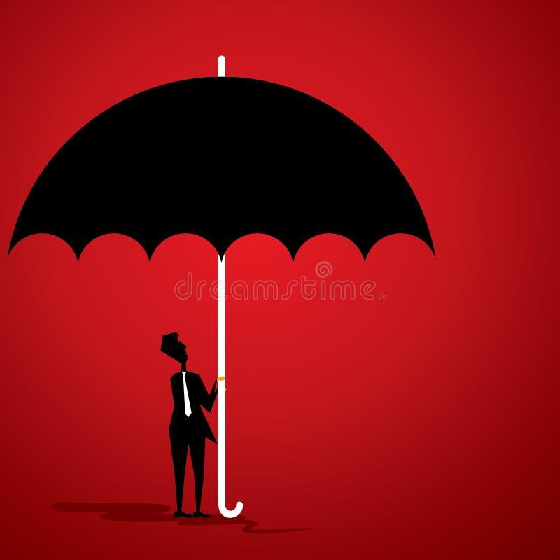 Homens com guarda-chuva ilustração do vetor