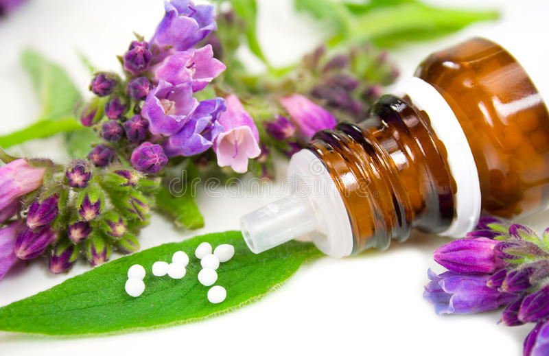 Homeopathie royalty-vrije stock foto's
