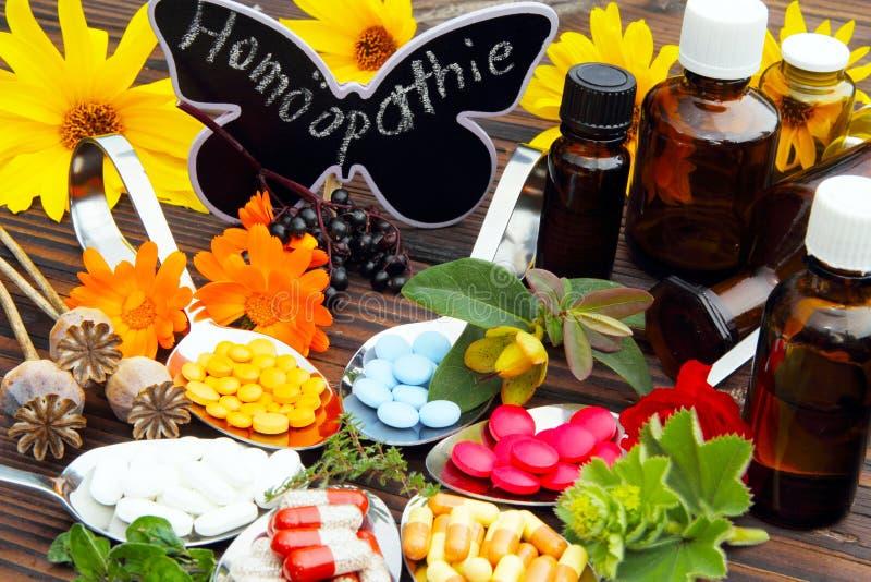 Homeopathie royalty-vrije stock afbeeldingen