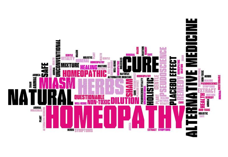 homeopathy royaltyfri illustrationer