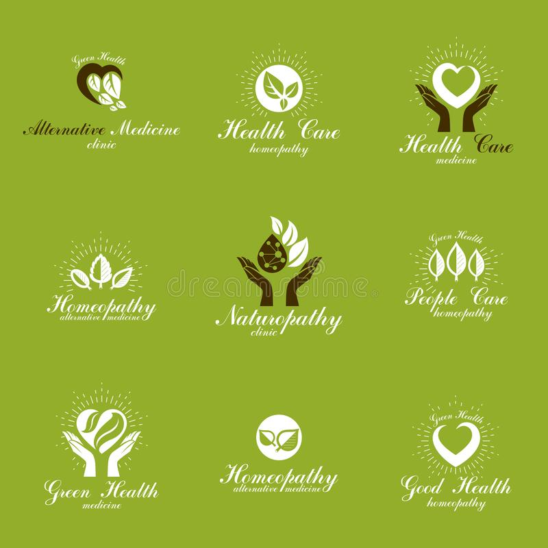 Homeopathy Creative Symbols Collection Restoring To Health Conc