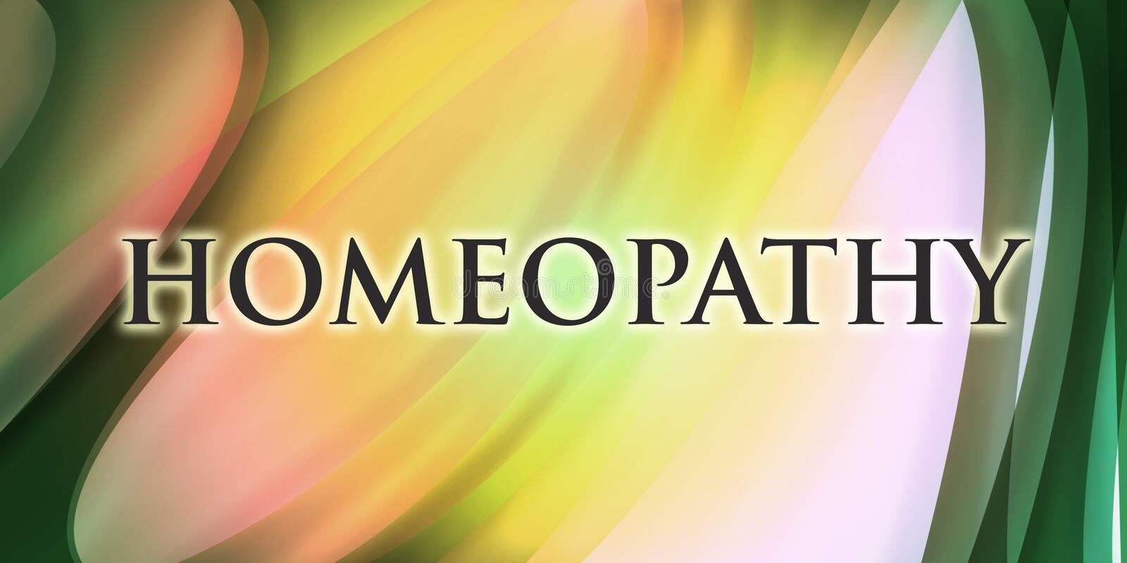 Homeopathy design royalty free stock images