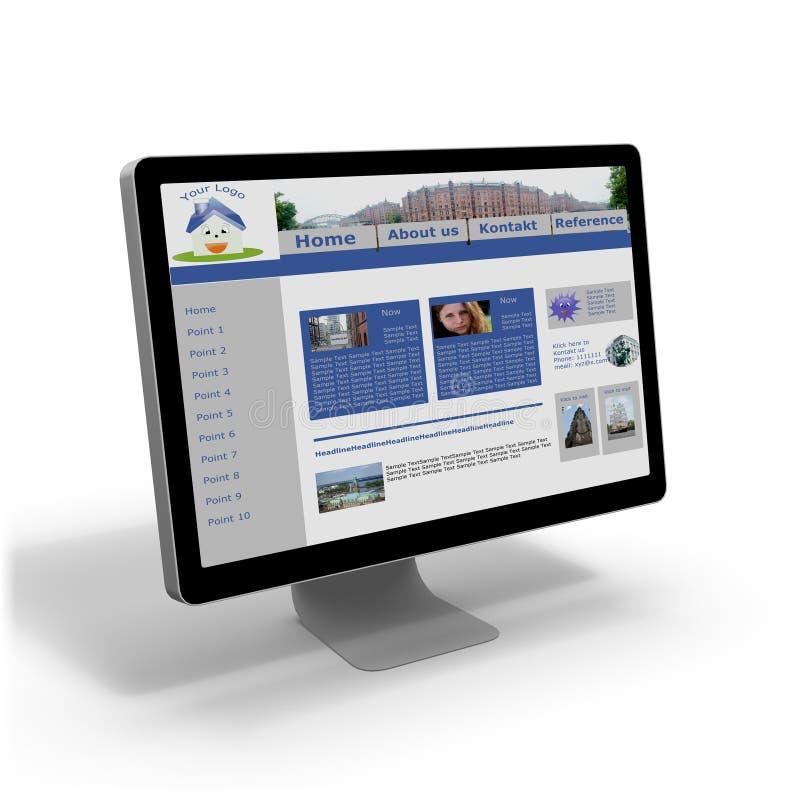 Homepage illustration stock