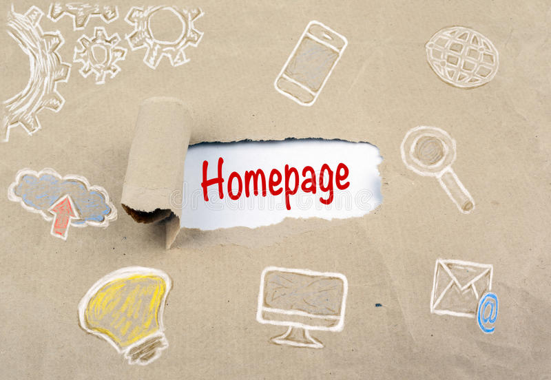 Homepage Address Digital Technology Connection Concept stock image