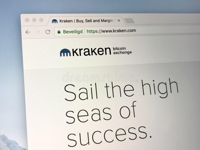 Homepage av Kraken arkivbilder