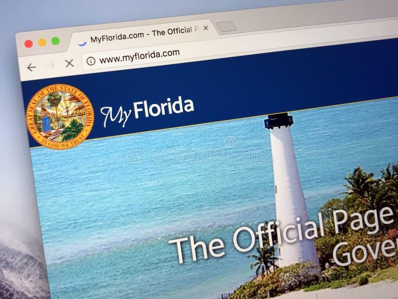 Homepage av Uen S florida tillstånd arkivbilder