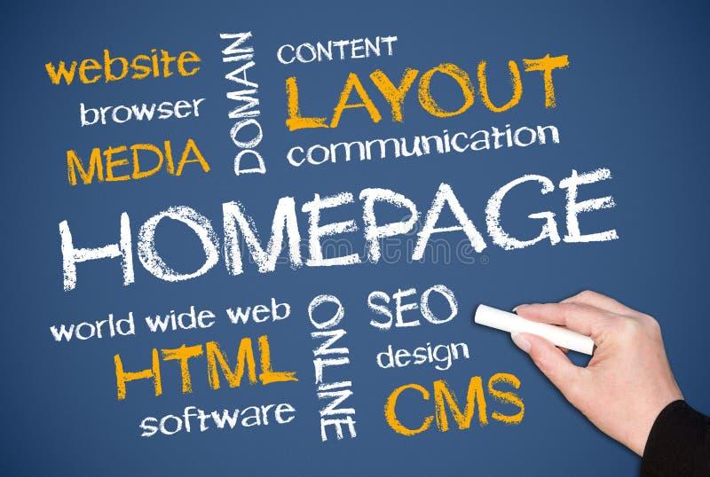 Homepage-begrepp fotografering för bildbyråer