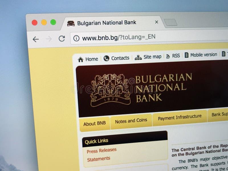 Homepage Bułgarski National Bank zdjęcia royalty free