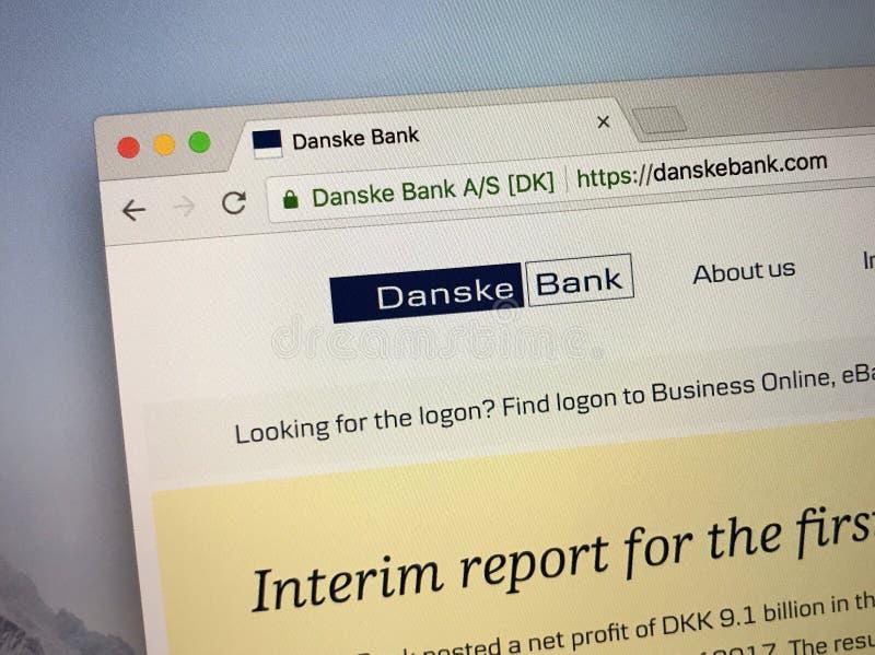 Homepage de Danske Bank foto de stock royalty free