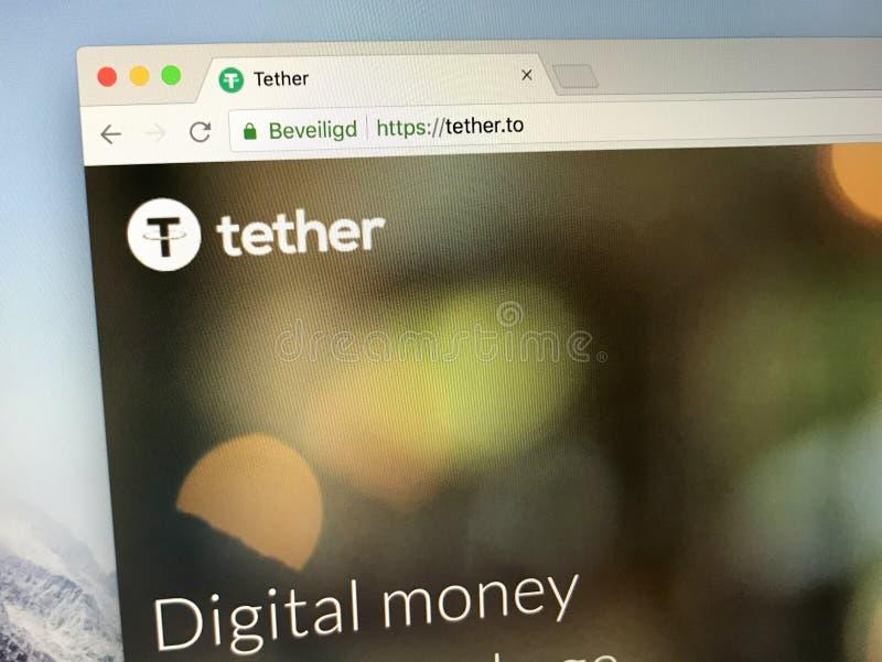 Homepage de la correa simbólica del cryptocurrency imagenes de archivo