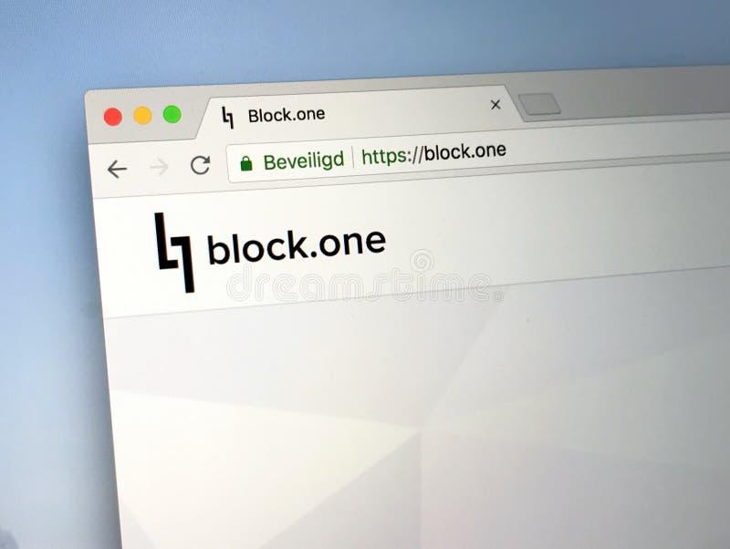 Homepage del blocco uno fotografia stock