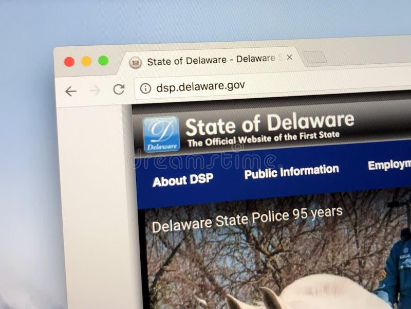 Homepage del U S Estado de Delaware foto de archivo