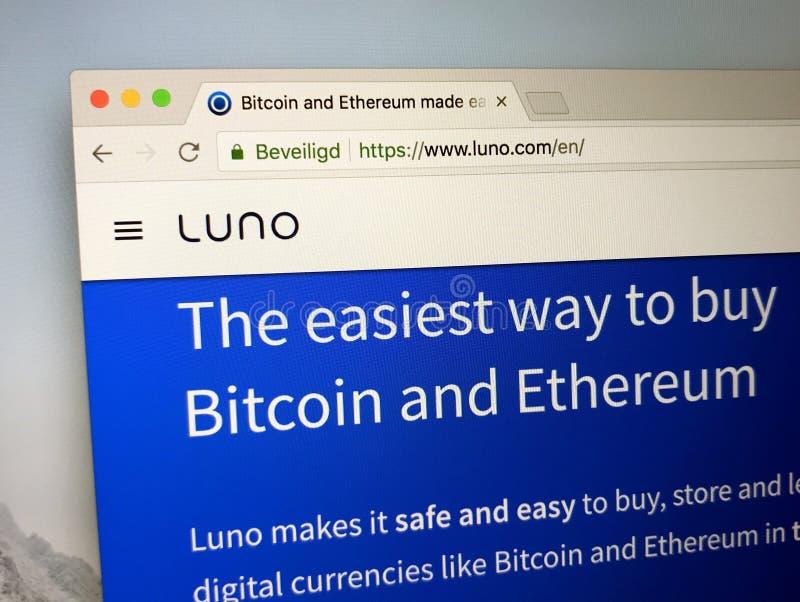 Homepage dello scambio di Luno immagini stock libere da diritti