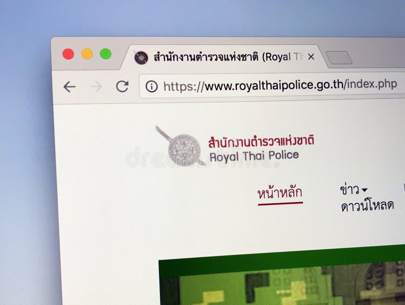 Homepage der königlichen thailändischen Polizei lizenzfreies stockfoto